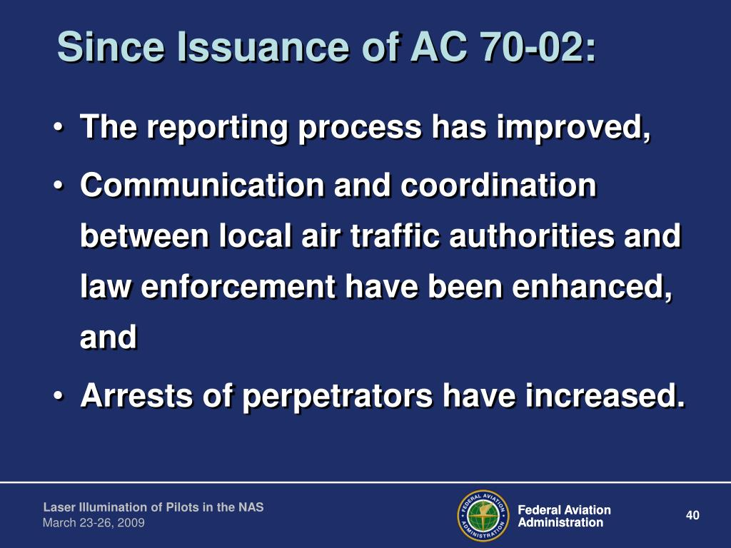Since Issuance of AC 70-02: