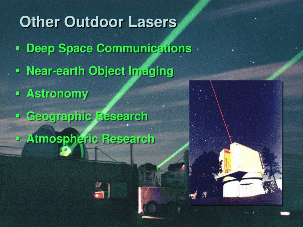 Other Outdoor Lasers
