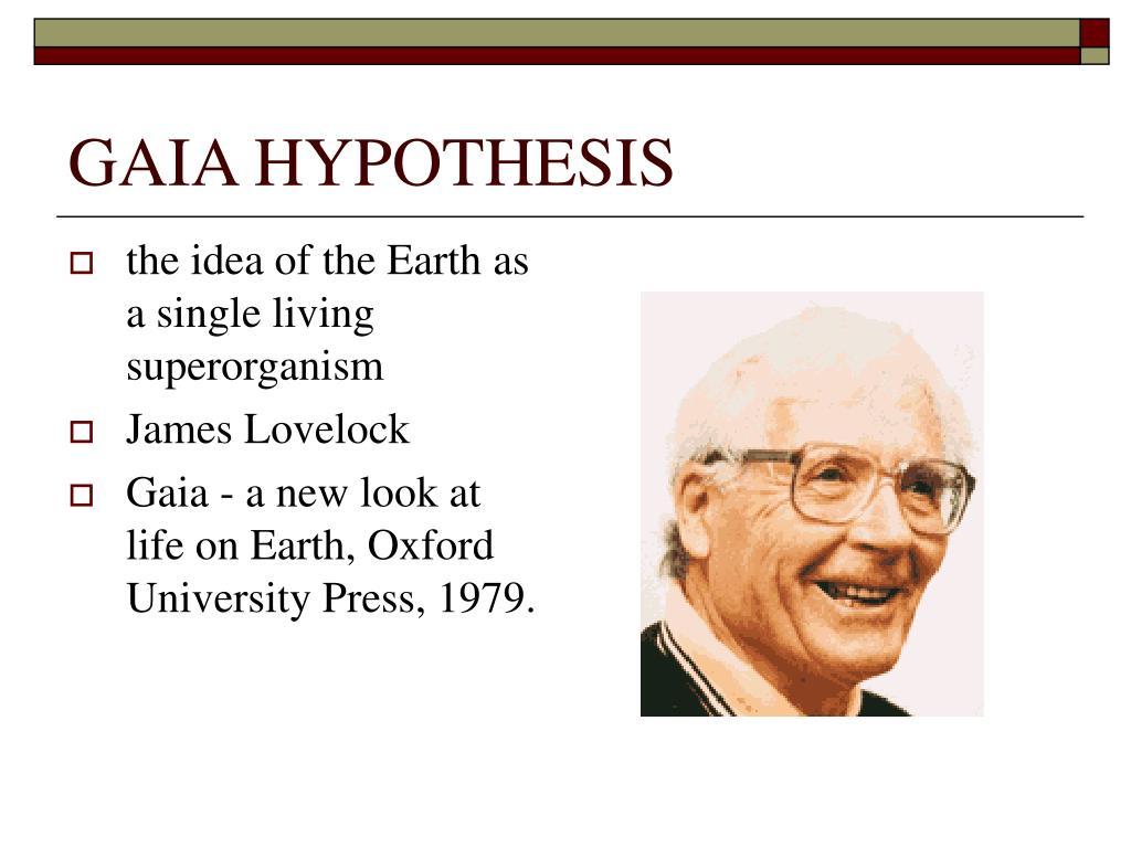 gaia hypothesis l.