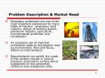 problem description market need