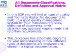 all documents classifications definition and approval matrix