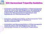 ich harmonised tripartite guideline23