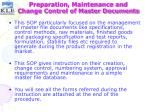 preparation maintenance and change control of master documents