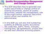 quality documentation management and change control