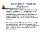 importance of metabolic engineering