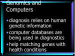 genomics and computers