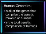 human genomics