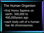 the human organism5