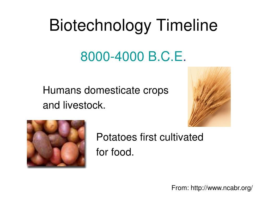 biotechnology timeline l.