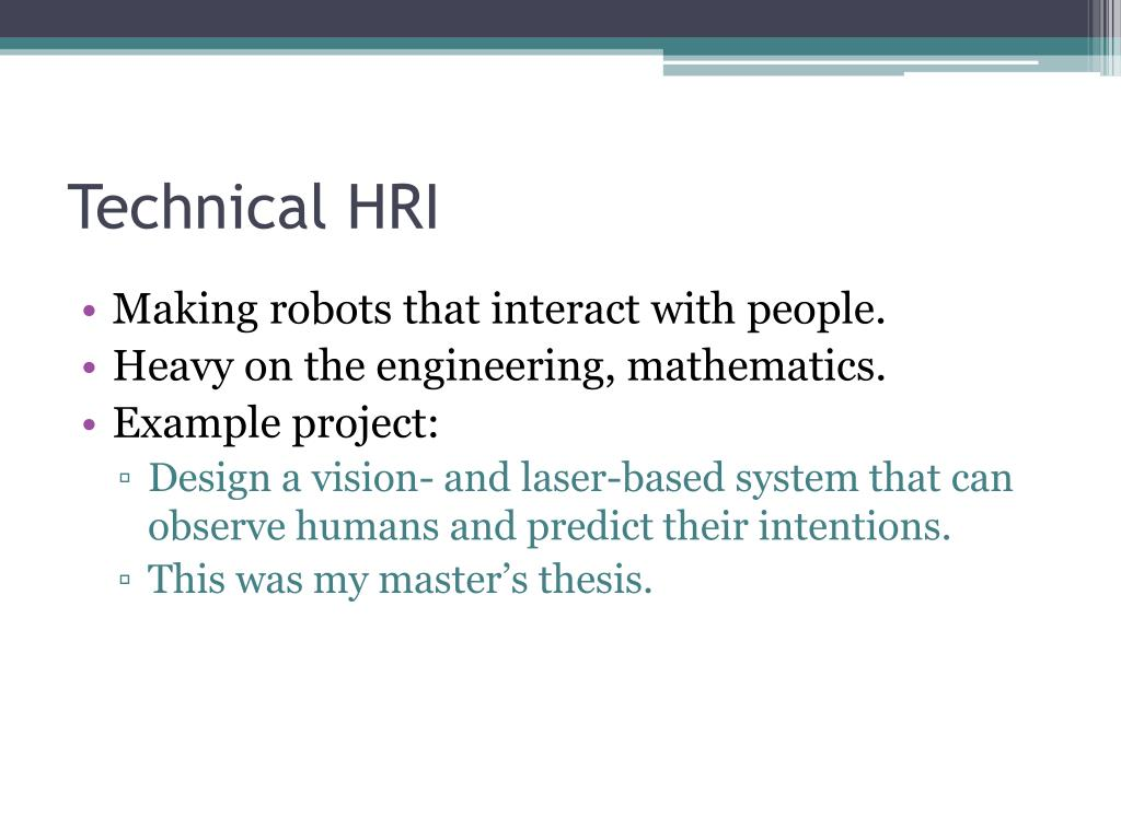 Technical HRI