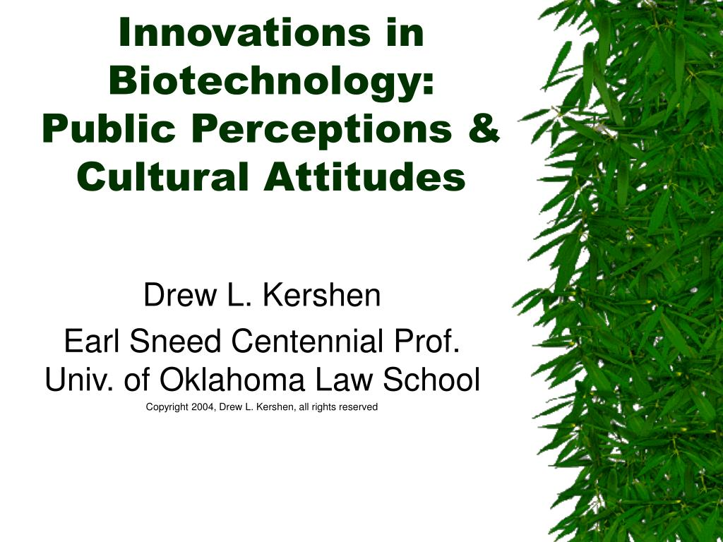 innovations in biotechnology public perceptions cultural attitudes l.