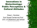 innovations in biotechnology public perceptions cultural attitudes