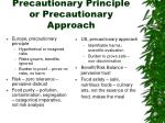 precautionary principle or precautionary approach
