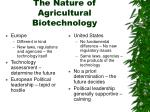 the nature of agricultural biotechnology