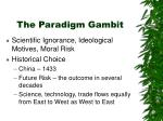 the paradigm gambit