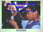 hands on exploration stations