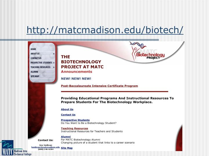 Ppt Biotechnology Intensive Post Baccalaureate Certificate