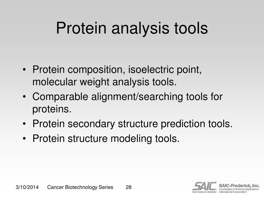 Protein analysis tools