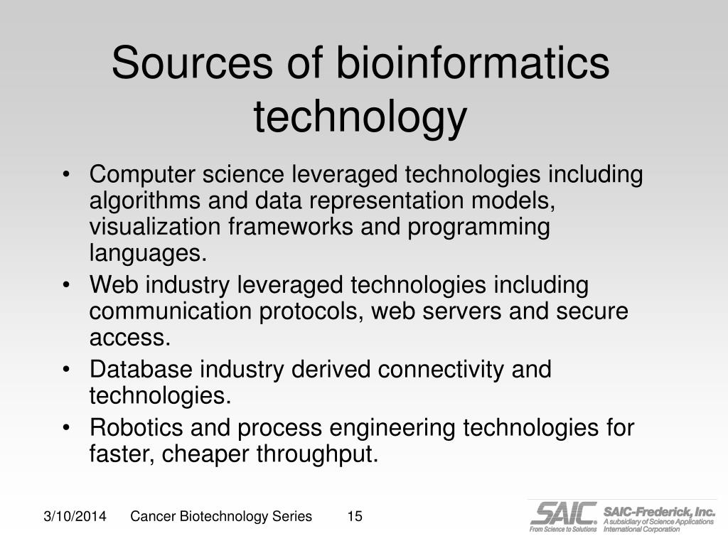 Sources of bioinformatics technology