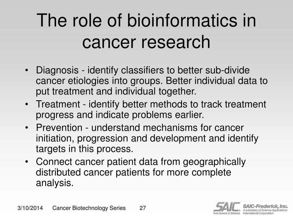 The role of bioinformatics in cancer research