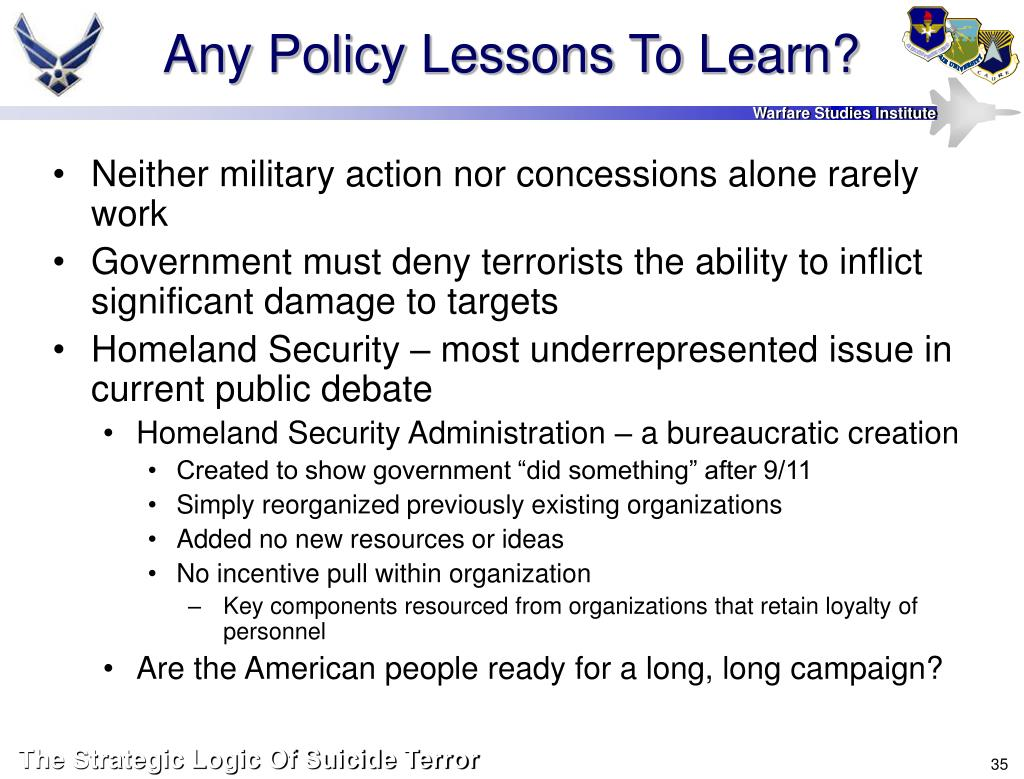 Any Policy Lessons To Learn?