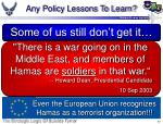 any policy lessons to learn37