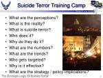 suicide terror training camp