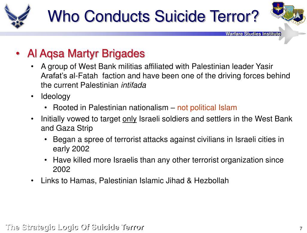 Who Conducts Suicide Terror?
