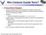 who conducts suicide terror7