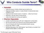 who conducts suicide terror8