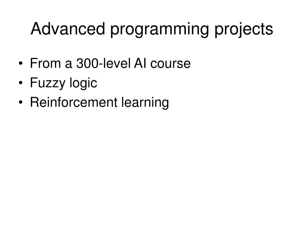 Advanced programming projects
