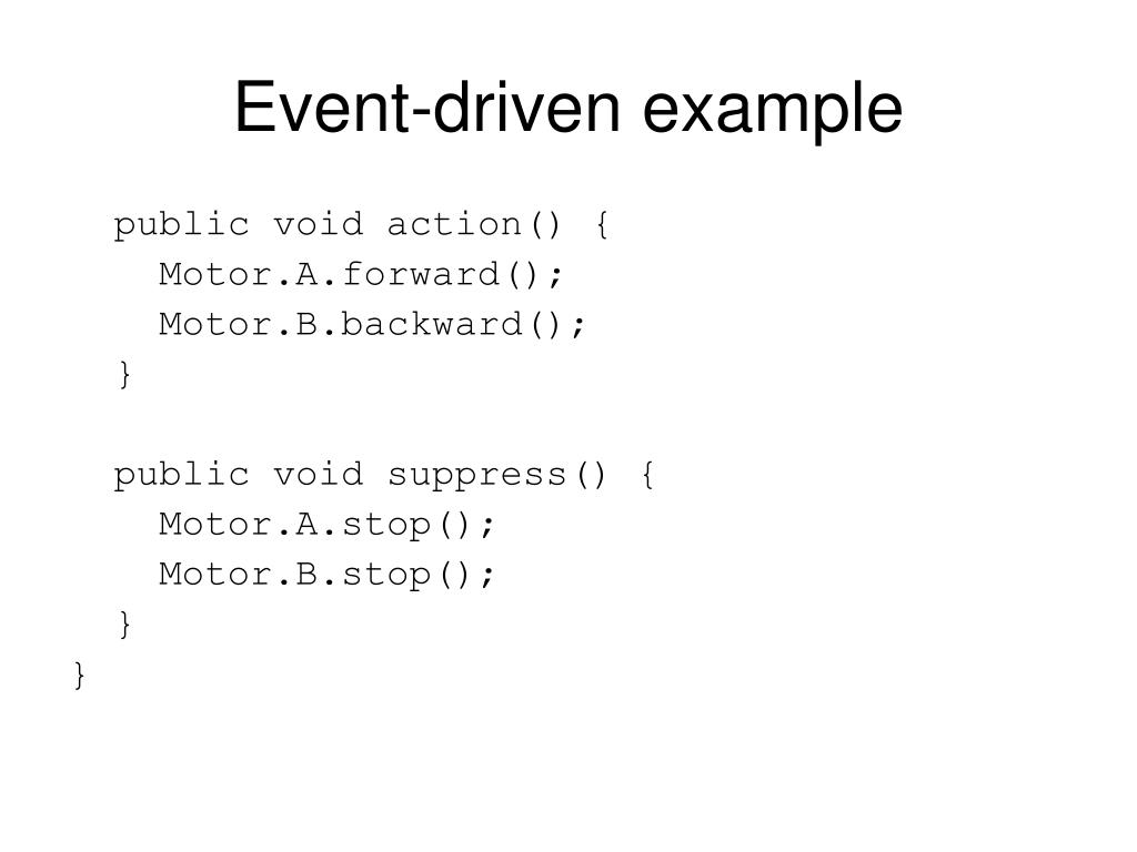 Event-driven example