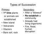 types of succession