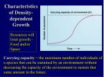 characteristics of density dependent growth