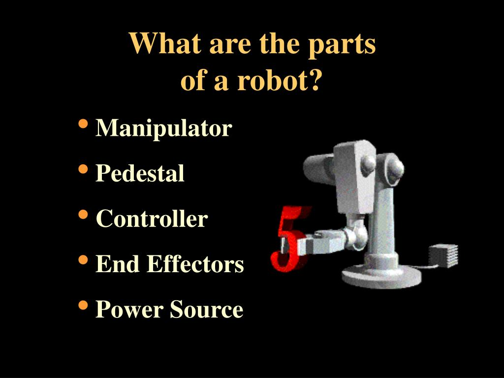 What are the parts of a robot?