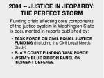 2004 justice in jeopardy the perfect storm