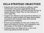 ocla strategic objectives