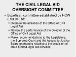 the civil legal aid oversight committee