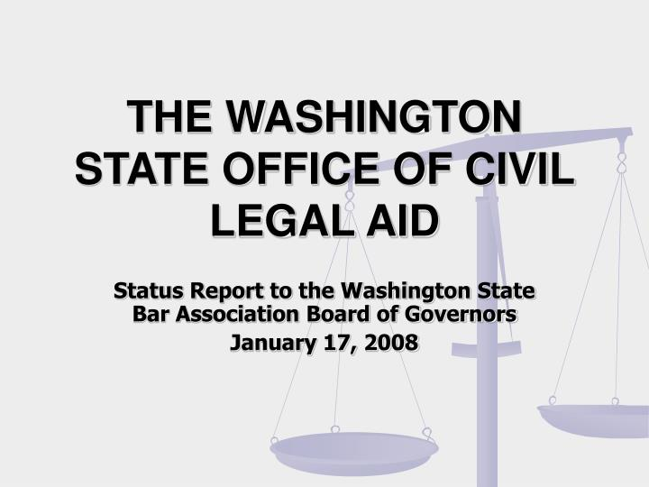 the washington state office of civil legal aid n.