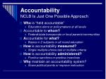 accountability nclb is just one possible approach