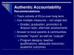 authentic accountability recommendations