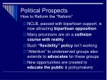 political prospects how to reform the reform