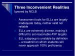 three inconvenient realities ignored by nclb