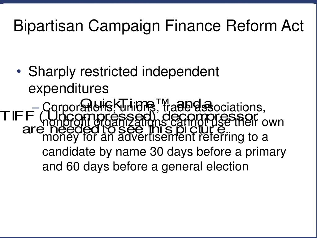 an essay on campaign finance reform Campaign finance reform campaign finance issues are complicated in the united states by the fact that the funding sources of the.