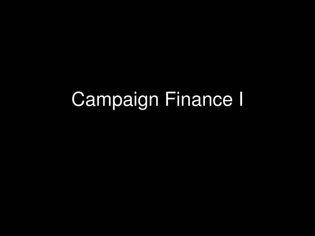 campaign finance i l.