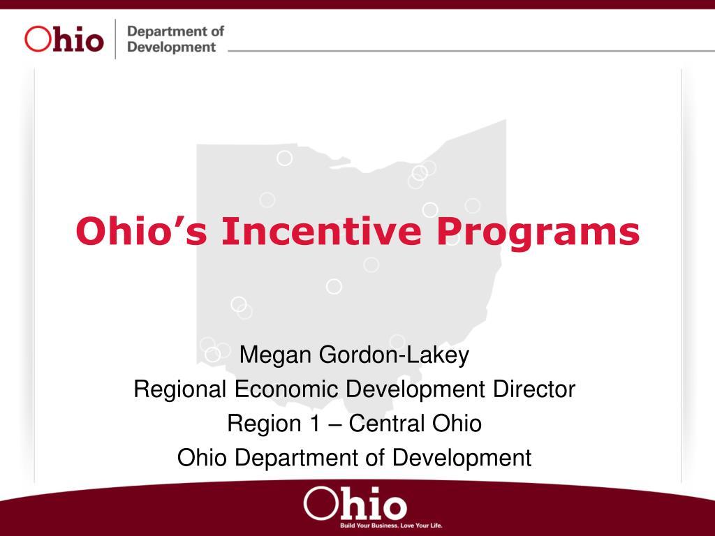 ohio s incentive programs l.