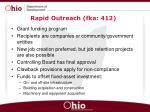 rapid outreach fka 412