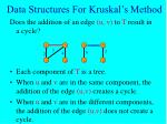 data structures for kruskal s method18