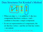 data structures for kruskal s method20
