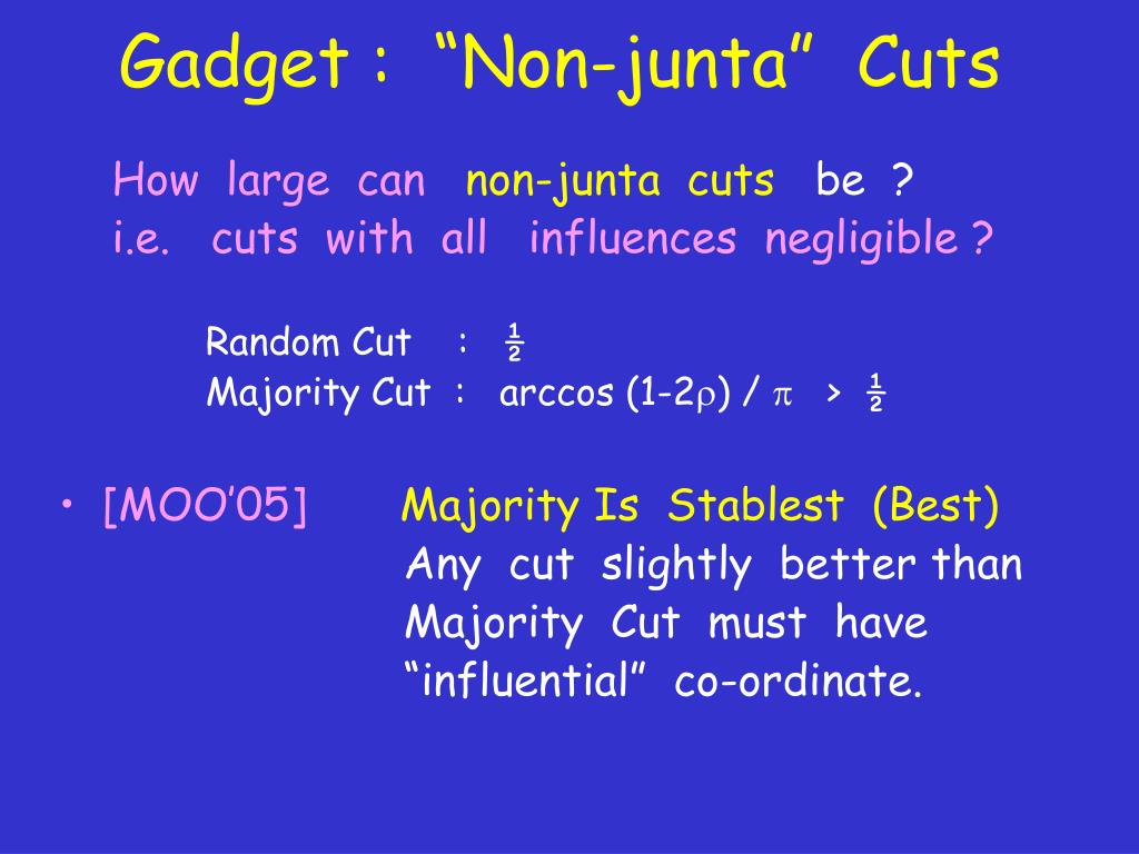 """Gadget :  """"Non-junta""""  Cuts"""